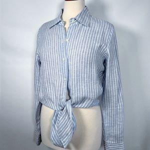 Leggiadro luxury linen buttondown shirt w/ties 8